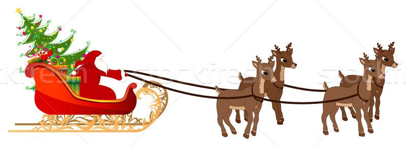 Beautiful, detailed illustration of Santa's sleigh Stock photo © glyph