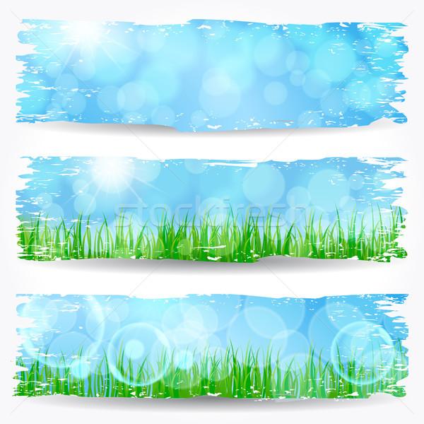 Hermosa suave bokeh naturaleza banner establecer Foto stock © glyph