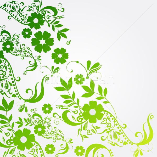 красивой цветочный весны вектора иллюстрация Пасху Сток-фото © glyph