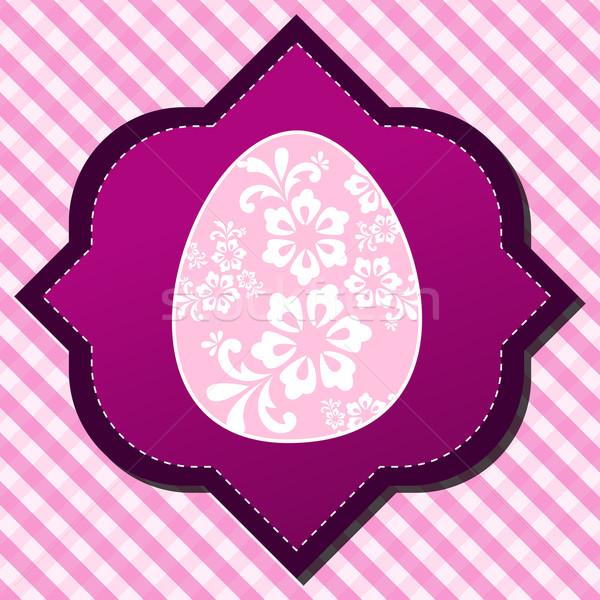 Mooie easter egg illustratie vector hemel Stockfoto © glyph