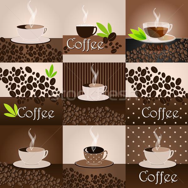 Elegant coffee themed background Stock photo © glyph