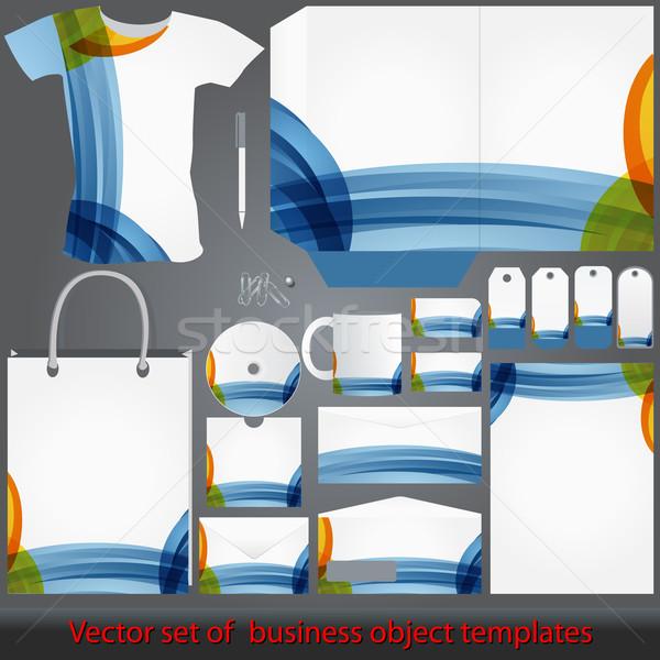 Részletes színes vállalati sablonok vektor elegáns Stock fotó © glyph