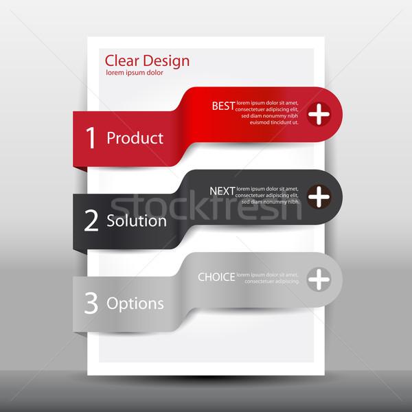 Illustration modernes modèle de conception web entreprise informations Photo stock © glyph