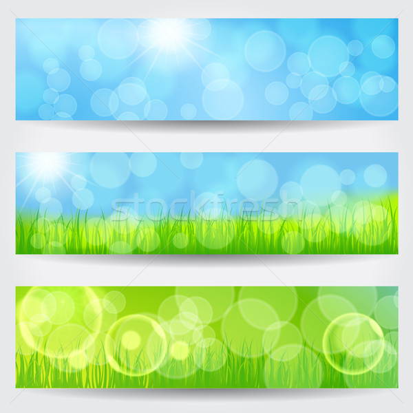 Beautiful soft bokeh nature banner set Stock photo © glyph