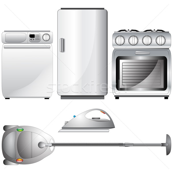 Set of realistic, detailed household appliances Stock photo © glyph