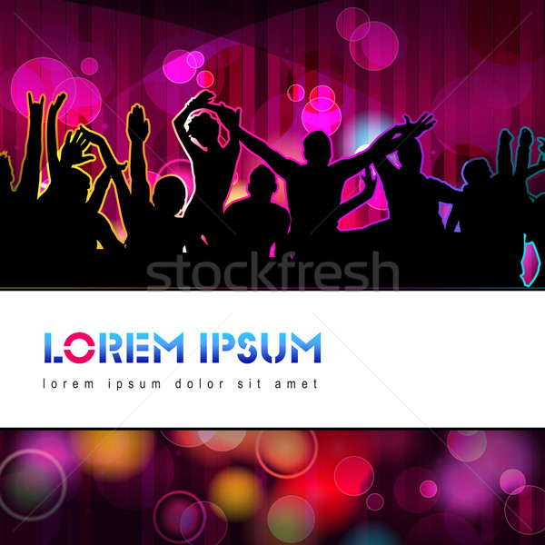 Colorful party people silhouettes Stock photo © glyph