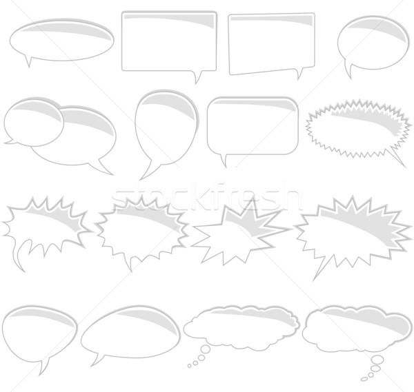Set of comic book text bubbles Stock photo © glyph