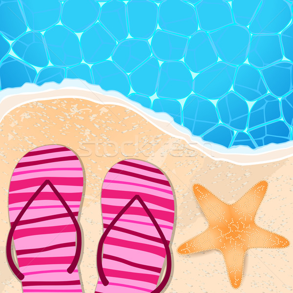 Flip-flops and starfish by the seaside Stock photo © glyph