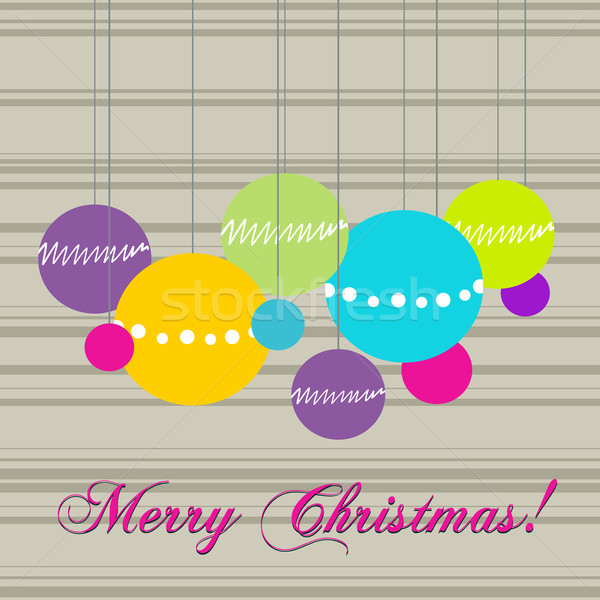Cute vector stijl christmas Stockfoto © glyph