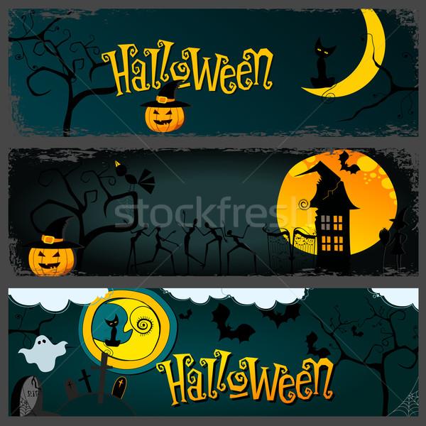 Halloween banner set Stock photo © glyph