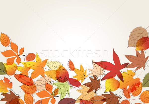 Stock photo: Colorful autumn leaves illustration