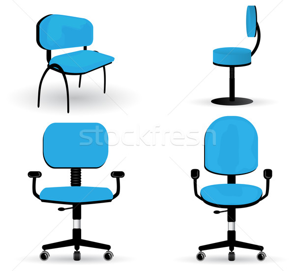 Set of office chair illustrations Stock photo © glyph