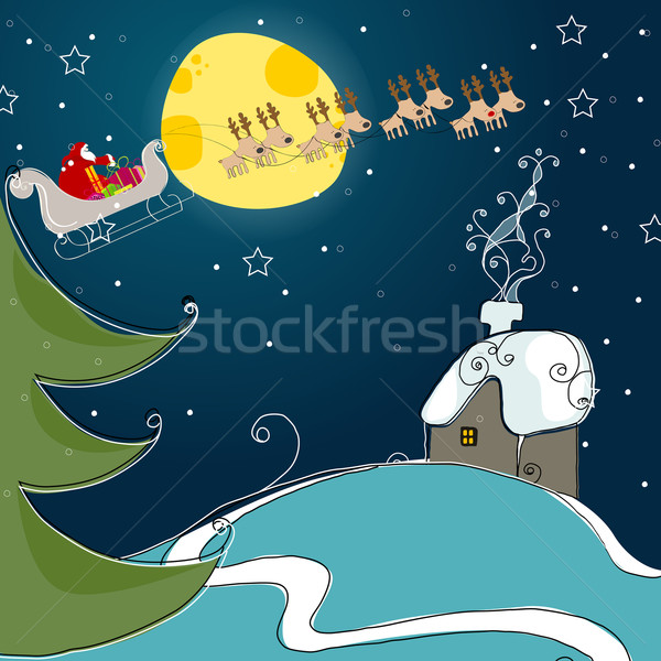 Cute Christmas greeting card Stock photo © glyph