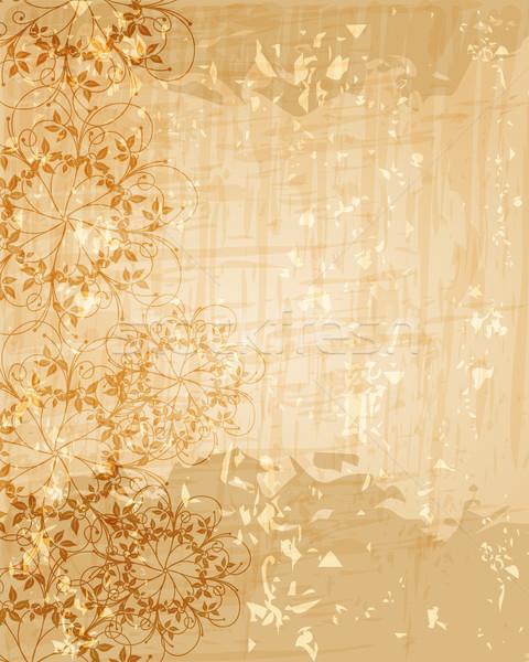 ヴィンテージ フローラル ベクトル 美しい 抽象的な レトロな ストックフォト © glyph