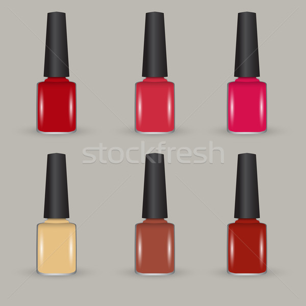 Vector nail polish set Stock photo © glyph