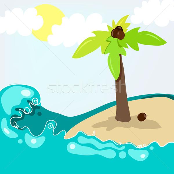 Cute tropical beach Stock photo © glyph