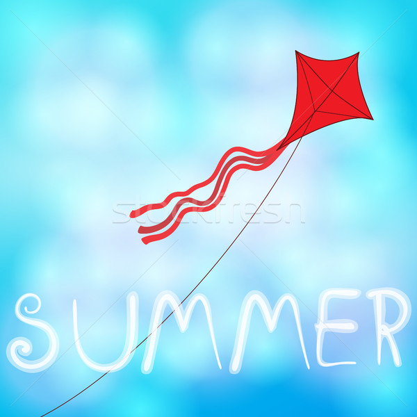 Summer sky with kite illustration Stock photo © glyph