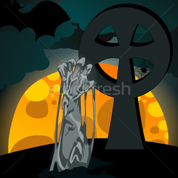Illustration of undead rising from the grave Stock photo © glyph