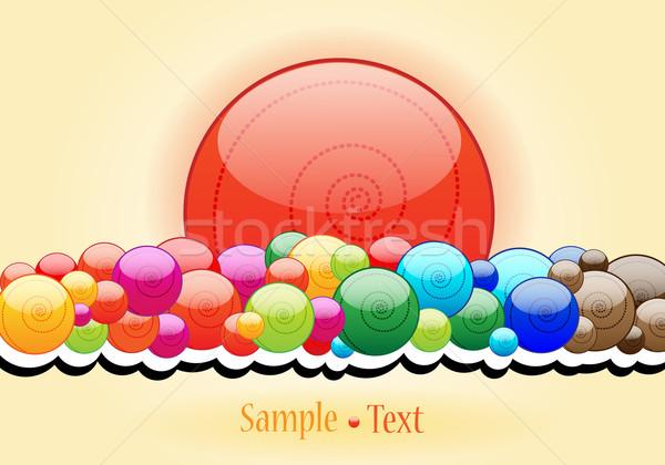 Elegant candy themed background Stock photo © glyph