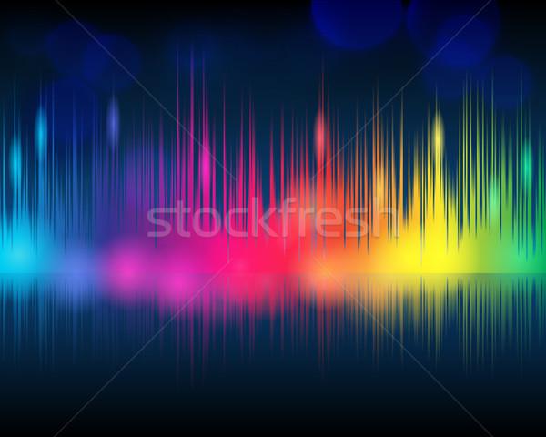 Elegante muziek vector moderne illustratie Stockfoto © glyph
