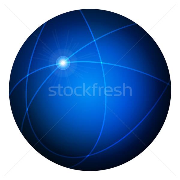エレガントな 青 webボタン ベクトル ビジネス ストックフォト © glyph