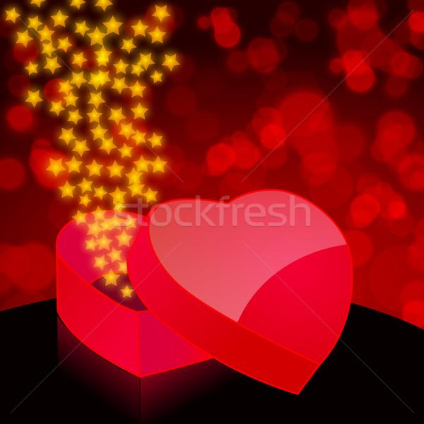 Beautiful heartshaped box Stock photo © glyph