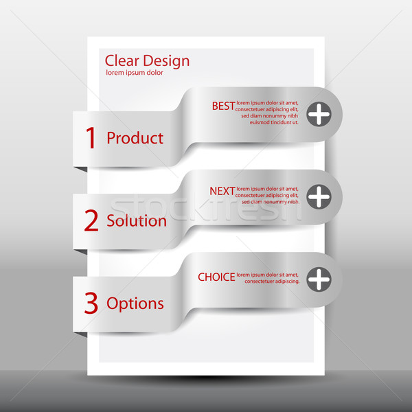 Illustration of modern design template with numbered banners Stock photo © glyph