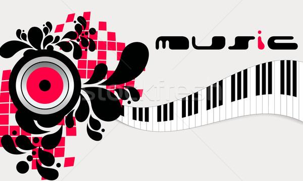 Elegant music background Stock photo © glyph