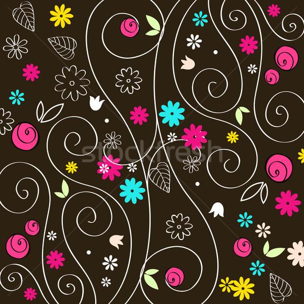 Cute autumn illustration Stock photo © glyph