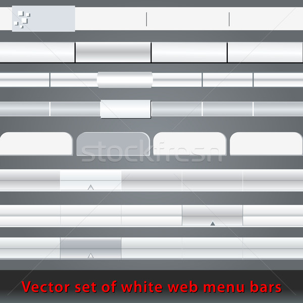 Stock photo: Set of white web menu bars and buttons