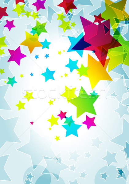 Elegant party background with colorful stars Stock photo © glyph