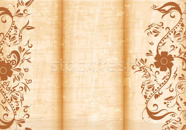 Floral tri fold brochure Stock photo © glyph