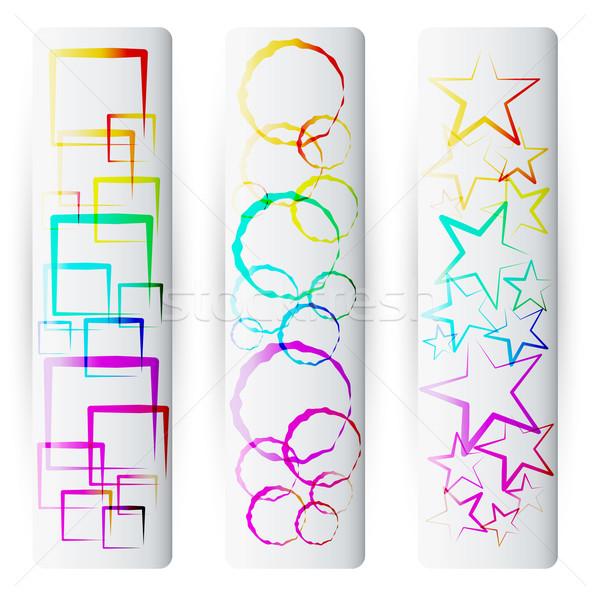 Ingesteld kleurrijk abstract banners vector moderne Stockfoto © glyph