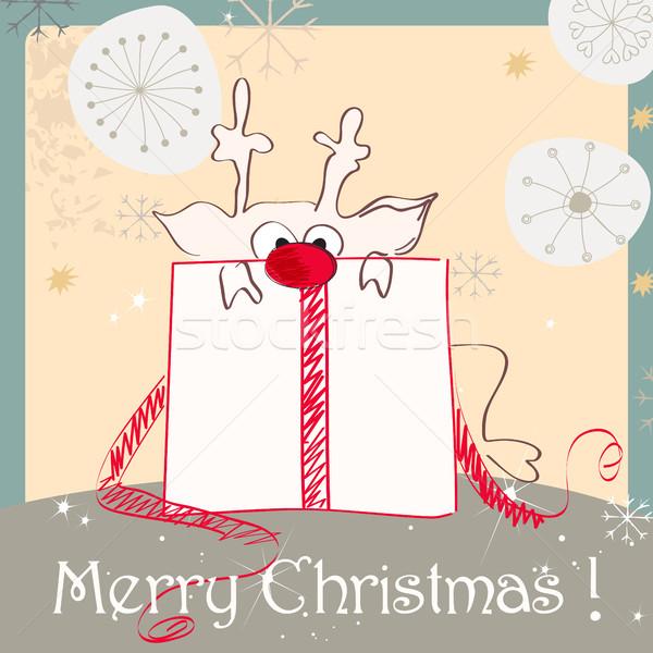 Cute Christmas card Stock photo © glyph