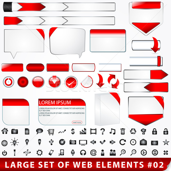Large set of web elements Stock photo © glyph