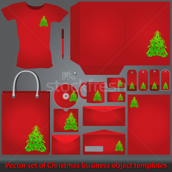 Christmas business object sjabloon ingesteld vector Stockfoto © glyph