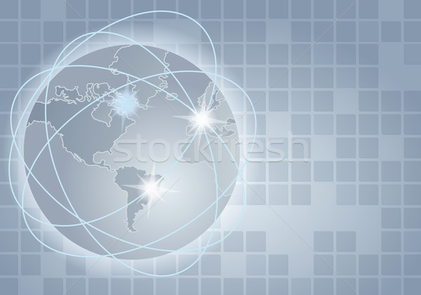 Global communication illustration Stock photo © glyph