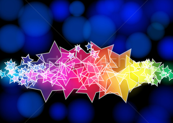 Modern abstract starry background  Stock photo © glyph