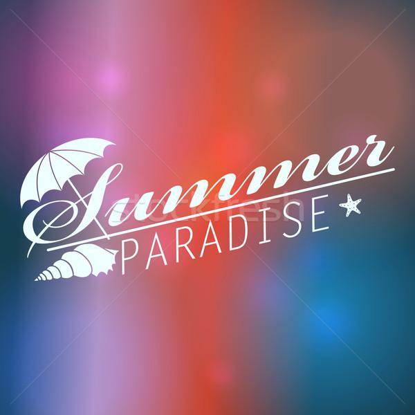 Kleurrijk wazig zomer tekst vector Stockfoto © glyph