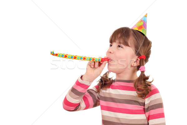 Stock photo: beautiful little girl birthday party