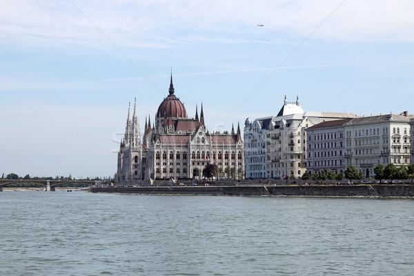 ハンガリー語 議会 ドナウ川 川 ブダペスト ハンガリー ストックフォト © goce