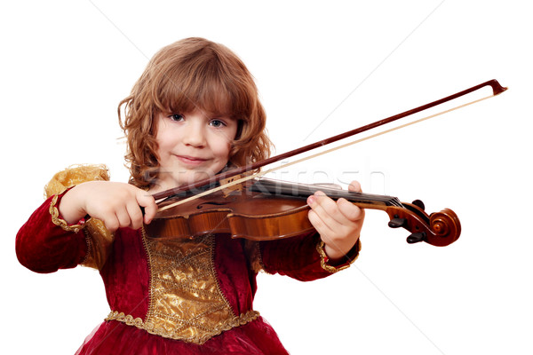 beautiful little girl play violin Stock photo © goce