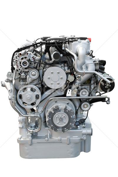 Foto stock: Ver · pesado · caminhão · motor · isolado