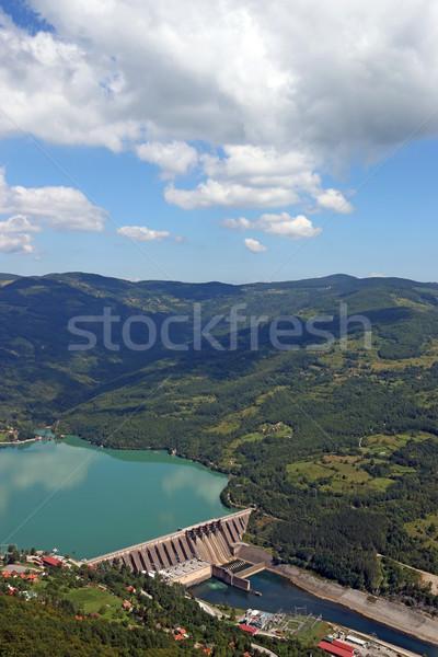Bitkiler nehir manzara gökyüzü su enerji Stok fotoğraf © goce