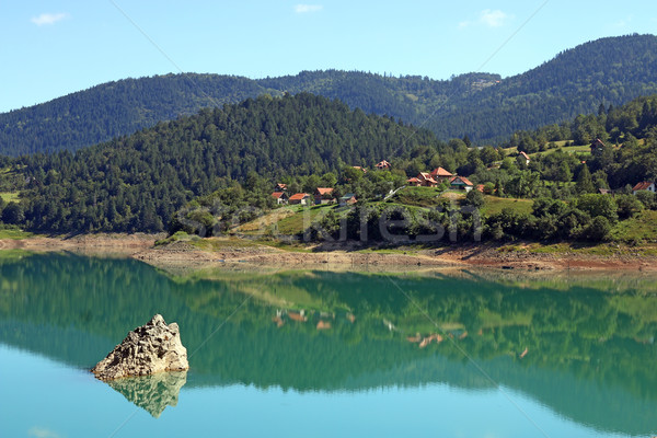 Zaovine lake on Tara mountain landscape Stock photo © goce