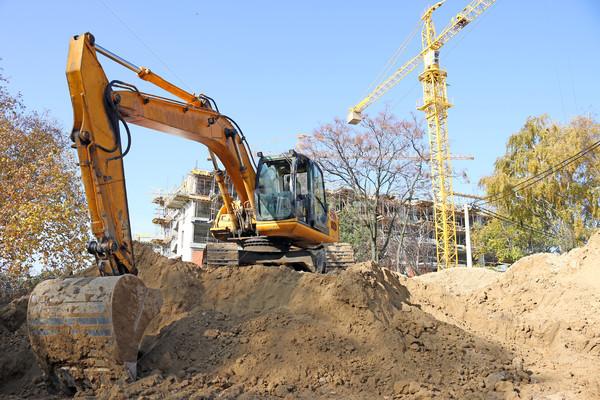 Kotrógép építkezés ipar üzlet munka gép Stock fotó © goce
