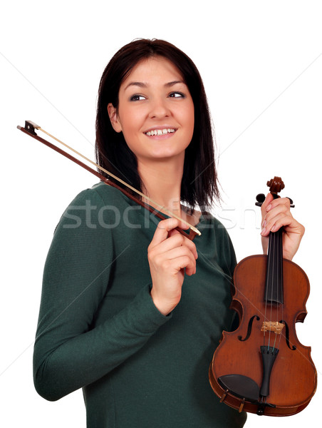beautiful girl with violin Stock photo © goce