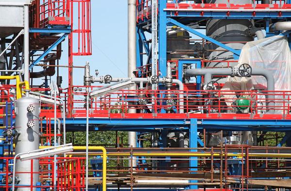 новых завода строительная площадка подробность нефть завода Сток-фото © goce