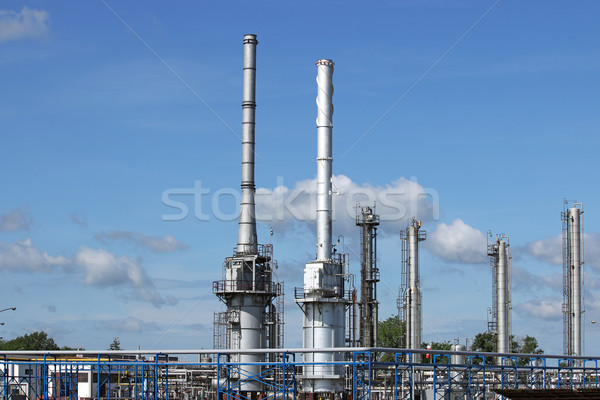 refinery petrochemical plant industry zone Stock photo © goce