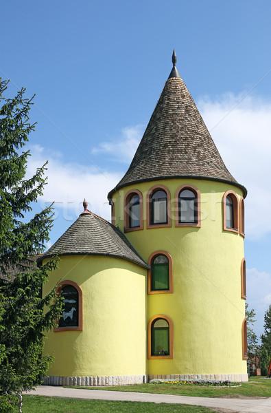 Edad castillo amarillo torre Serbia Europa Foto stock © goce